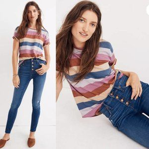 MADEWELL HighRise Skinny Exposed Button Fly Jeans